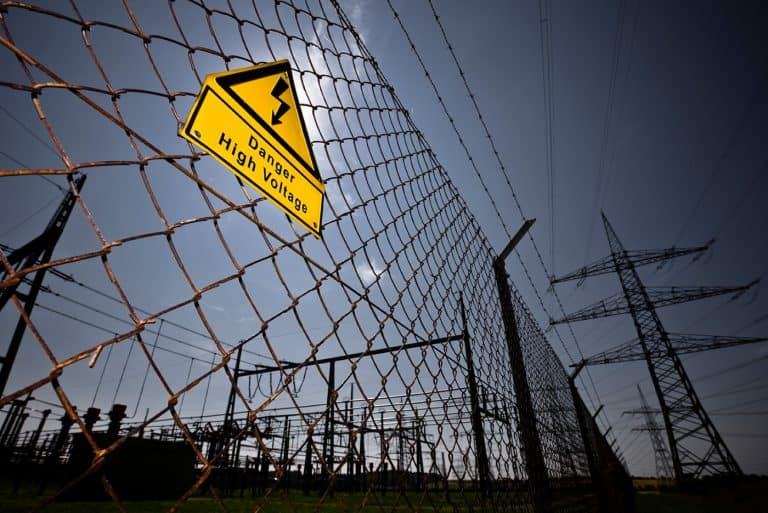 Asset Protection - Danger High Voltage sign